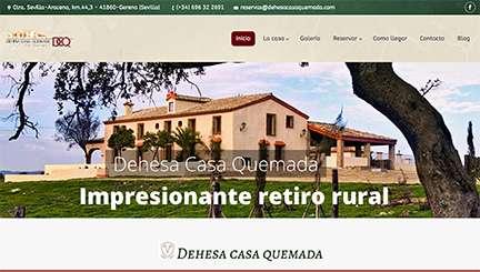 Página web casa rural en Cordoba